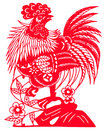 Chinese zodiac of cock Stock Photo