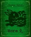 Chinese Zodiac - hare Stock Photography