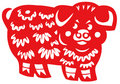 Chinese zodiac of pig Stock Image