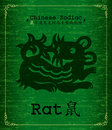Chinese Zodiac - rat Stock Images