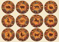 Chinese Zodiac Set Royalty Free Stock Photo