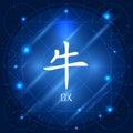 Chinese Zodiac Sign Ox Royalty Free Stock Photo