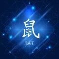 Chinese Zodiac Sign Rat Royalty Free Stock Photo