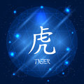 Chinese Zodiac Sign Tiger Royalty Free Stock Photo