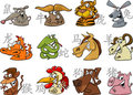Chinese zodiac signs Stock Photos