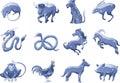 Chinese zodiac star animal symbols