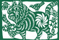 Chinese zodiac of tiger Stock Image