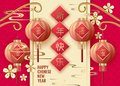 Classic Chinese new year background, vector illustration.