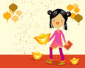 Chineze new year kid Royalty Free Stock Image
