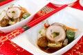 Chinois ham cold dish Image stock