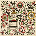 Chinoiserie Tile Stock Photos