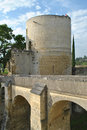 Chinon castle tower and bridge in the of france Royalty Free Stock Photography