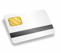 Chip card illustration of a with magnetic strip Royalty Free Stock Photo
