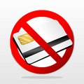 Chip card sign for cashless payment is not accepted Royalty Free Stock Photography