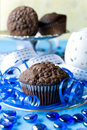 Chip chocolate muffins Stock Photos