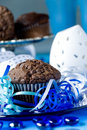 Chip chocolate muffins Stock Photography