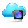 Chip and Cloud Royalty Free Stock Photos