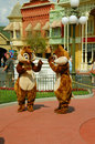 Chip and dale interacting while waiting for a photoshoot Stock Photos