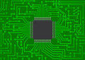 Chip electronic illustration of on pcb Royalty Free Stock Photos