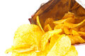 Chips in a bag (with clipping path) Stock Photo