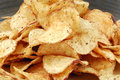 Chips crisps on plate Royalty Free Stock Photo