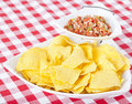 Chips and Pico De Gallo Salsa Stock Photos