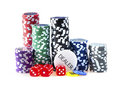 Chips for poker Royalty Free Stock Images