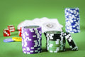 Chips for poker Royalty Free Stock Image