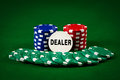 Chips for poker Stock Images