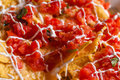 Chips and salsa close up Royalty Free Stock Photo