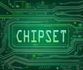 Chipsetconcept. Stock Foto