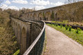 Chirk Aqueduct and Viaduct Royalty Free Stock Photo