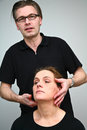 Chiropractise clinic massage in denmark in a real situation Stock Photos