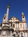 Chisea di san domenico landmark cathedral in palermo of sicily italy Stock Photography