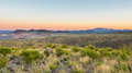 Chisos mountains sotol vista big bend national park tx from on the ross maxwell scenic drive at sunrise texas Royalty Free Stock Image