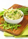 Chive butter bowl of homemade Royalty Free Stock Photography