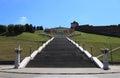 Chkalov staircase in nizhny novgorod russia the longest memorial located on the river embankment of volga Royalty Free Stock Image