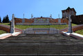 Chkalov staircase in nizhny novgorod russia the longest memorial located on the river embankment of volga Royalty Free Stock Images