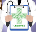 Chlamydia Word Indicates Sexually Transmitted Disease And Vd Royalty Free Stock Photo