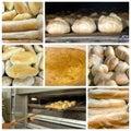 Chlebowy kolaż Obrazy Stock