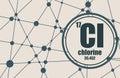 Chlorine chemical element. Royalty Free Stock Photo