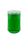 Chlorophyll in glass isolated on white background Royalty Free Stock Photos