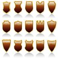 Choco shiny shields Royalty Free Stock Photos
