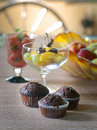 Chocolade muffins Stock Photography