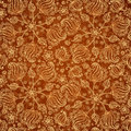 Chocolate abstract doodle flowers seamless pattern this is file of eps format Royalty Free Stock Images