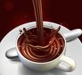 Chocolate advertising design, high detailed realistic illustra