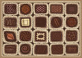 Chocolate assortment Stock Images