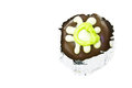 Chocolate ball on white background Royalty Free Stock Photos