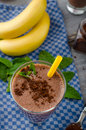 Chocolate-banana smoothie Royalty Free Stock Photo