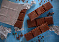 The chocolate bar Royalty Free Stock Photo